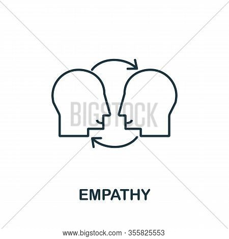 Empathy Icon From Life Skills Collection. Simple Line Empathy Icon For Templates, Web Design And Inf