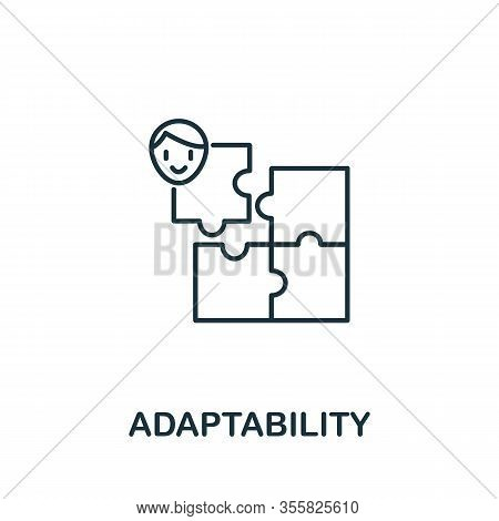 Adaptability Icon From Life Skills Collection. Simple Line Adaptability Icon For Templates, Web Desi