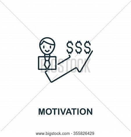 Motivation Icon From Teamwork Collection. Simple Line Element Motivation Symbol For Templates, Web D