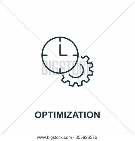 Optimization Icon From Teamwork Collection. Simple Line Element Optimization Symbol For Templates, W
