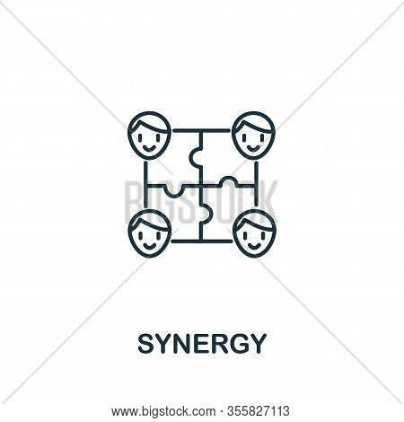 Synergy Icon From Teamwork Collection. Simple Line Element Synergy Symbol For Templates, Web Design