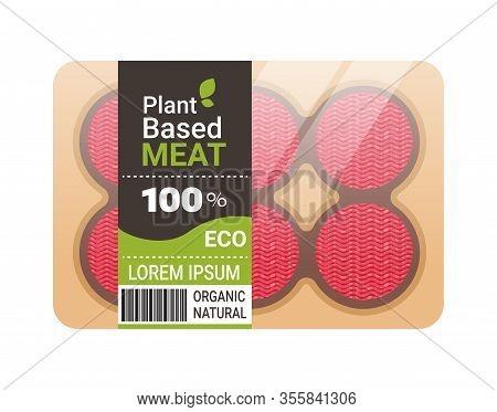 Plant Based Vegetarian Burger Steaks Beyond Meat In Packaging Organic Natural Vegan Food Concept Hor