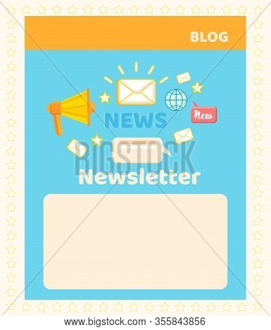 Social Media Blog Banner Page. Effective Global Email Marketing System. News And Newsletters Adverti