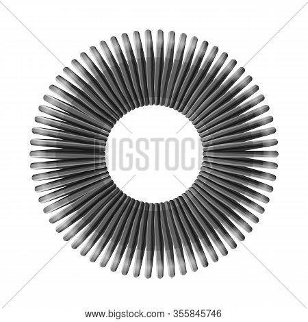 Vector Design Of Coil And Plastic Sign. Graphic Of Coil And Spiral Vector Icon For Stock.
