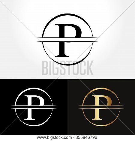 Initial Circle Letter P Logo Design Business Vector Template. Creative Abstract Letter P Logo Vector