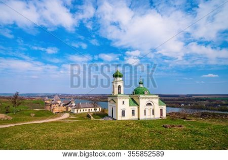 Picturesque Panoramic View Of Alexander Nevsky Church And Medieval Khotyn Fortress, Chernivtsi Regio