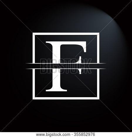 Initial Square Letter F Logo Design Business Vector Template. Creative Letter F Logo Vector