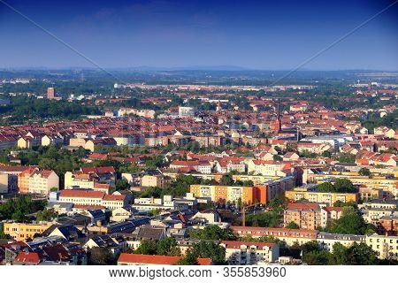 Leipzig City, Germany (state Of Saxony). Cityscape With Neustadt And Neuschoenefeld Residential Dist