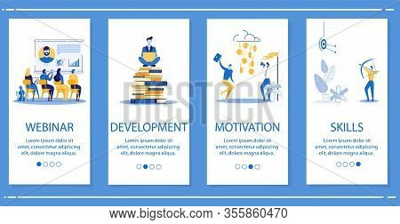 Set Webinar, Development, Motivation, Skills. Employees Apply Their Knowledge To Achieve Financial G
