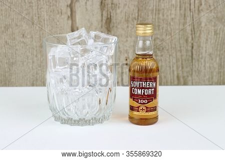 Spencer, Wisconsin, U.s.a., March, 13, 2020   Bottle Of Southern Comfort   Southern Comfort Is An Am