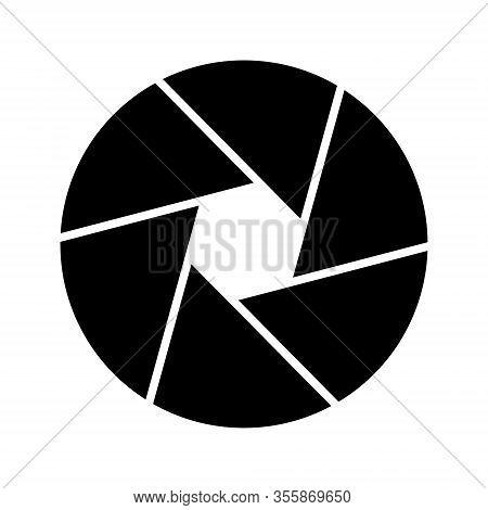 Dslr Or Mirrorless Camera Diaphragm Flat Icon.