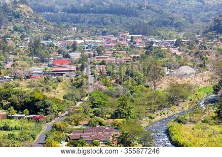 Boquete Panama, March 11 Boquete Town With Its Natural Landscapes And Its River Named Caldera Is Lov