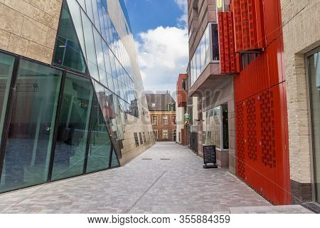 Groningen, Netherlands - March 14, 2020: Empty Street At The Forum In The Historic Center Of Groning
