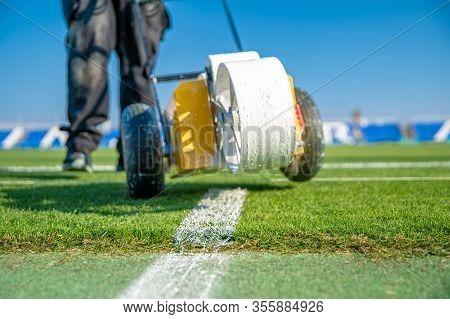 Football Field Markings: Center Mark, Center Line, Center Circle, Penalty Areas, Goal Areas, Corner