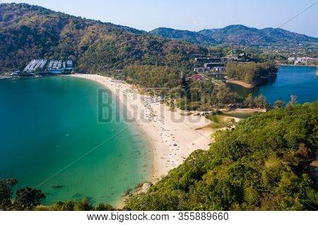 Tropical beach of Nai Harn on Phuket island in Thailand