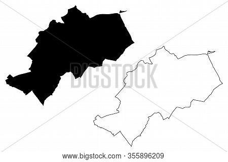 Gyor City (hungary, Gyor-moson-sopron County) Map Vector Illustration, Scribble Sketch City Of Gyor