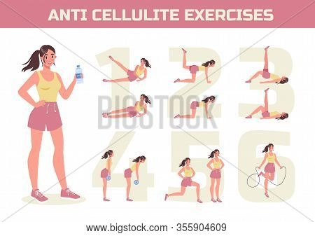 Anti Cellulite Exercises Program For Losing Weight. Become Slim