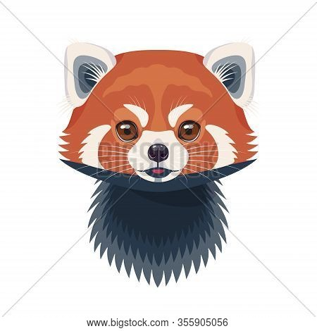 Funny Red Panda Face Vector Photo Free Trial Bigstock