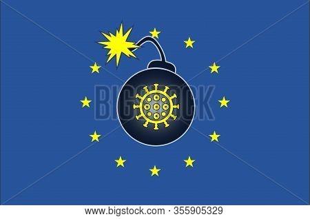 Explosive Coronavirus Outbreak In Europe. The European Unity At Stake Due To The Corona Virus Pandem