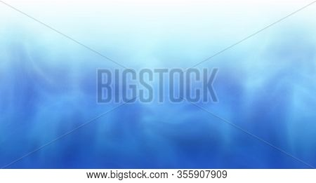 Blue Fog On White Background. Light Blue Blurry Abstract Background. Copy Space. Stock Vector Illust
