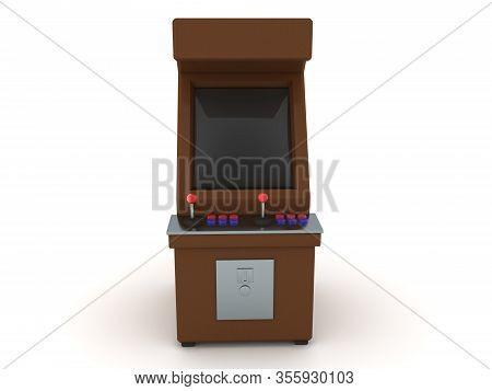 3D Rendering Of Retro Arcade Cabinet
