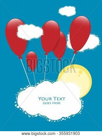 Bright Vector Design With Copy Space. Colorful Template For Your Graphic Work. Elements For Annual R