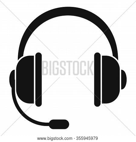Customer Headset Icon. Simple Illustration Of Customer Headset Vector Icon For Web Design Isolated O