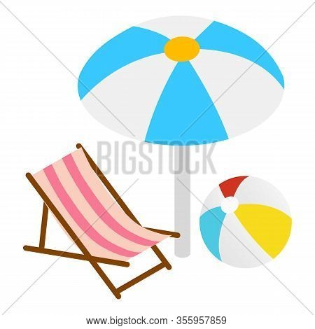 Summer Rest Icon. Isometric Illustration Of Summer Rest Vector Icon For Web