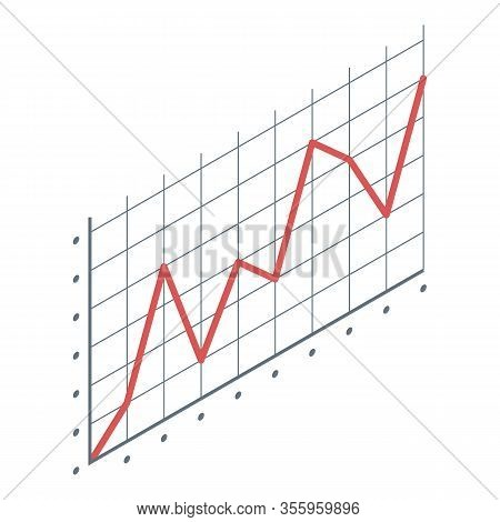 Failure Chart Icon. Isometric Of Failure Chart Vector Icon For Web Design Isolated On White Backgrou