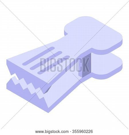 Metal Household Pin Icon. Isometric Of Metal Household Pin Vector Icon For Web Design Isolated On Wh