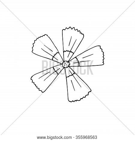 Vector Hand Drawn Doodle Sketch Wild Clove Isolated On White Background