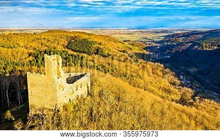 Spesbourg Castle In The Vosges Mountains, The Bas-rhin Department Of France
