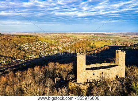 Haut-andlau Castle In The Vosges Mountains, The Bas-rhin Department Of France