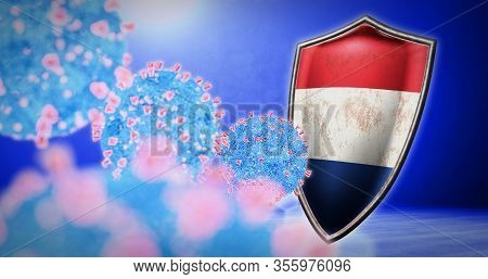 Fight Of The Netherlands With Coronavirus - 3d Render
