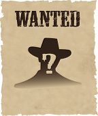the vector wanted poster image EPS 8 poster
