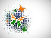 Indian Flag butterfly on creative background. EPS 10. poster