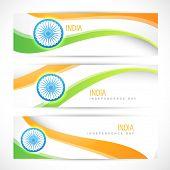 creative indian flag headers design poster