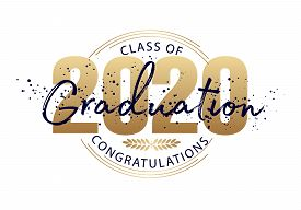 Graduation Label. Vector Text For Graduation Design, Congratulation Event, Party, High School Or Col