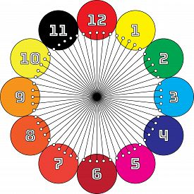 Clock Dial Enormous Numbers In Circle Hourly Swatch On Transparent Background