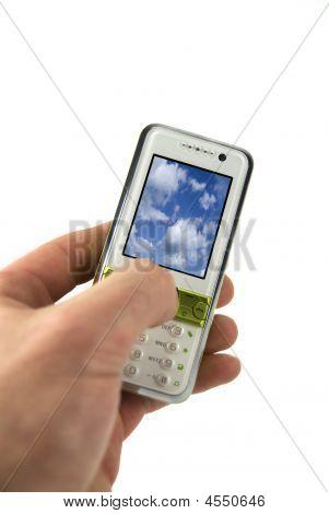 Hand Holding Modern Mobile
