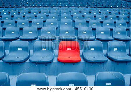 Empty Plastic Chairs