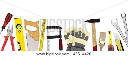 Craftsman tools isolated on white