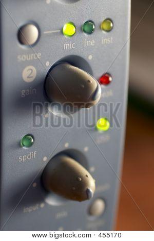 Macro Shot Of A Mixing Board