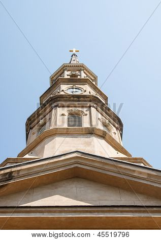 Brown Stone Steeple From Below