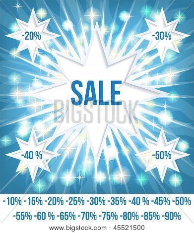 Sale Card Blue