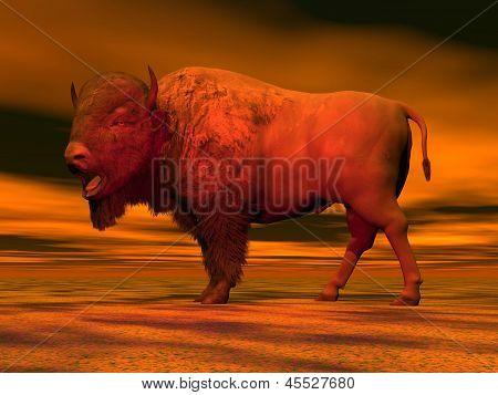 Red Bison - 3D Render