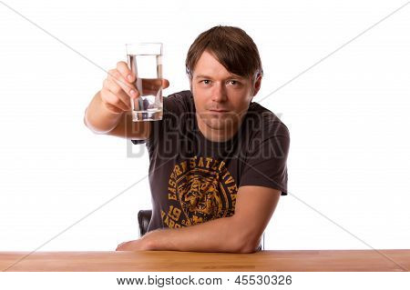 Man With A Glass Of Water