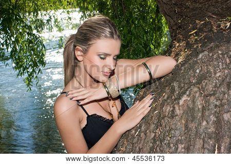 Beautiful Woman Near The River
