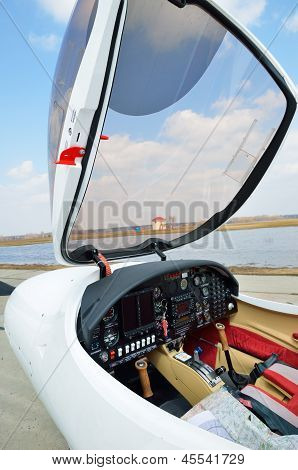 Cockpit Of The Light Aircraft