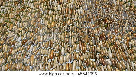 Pebble Pavement Covered With Water